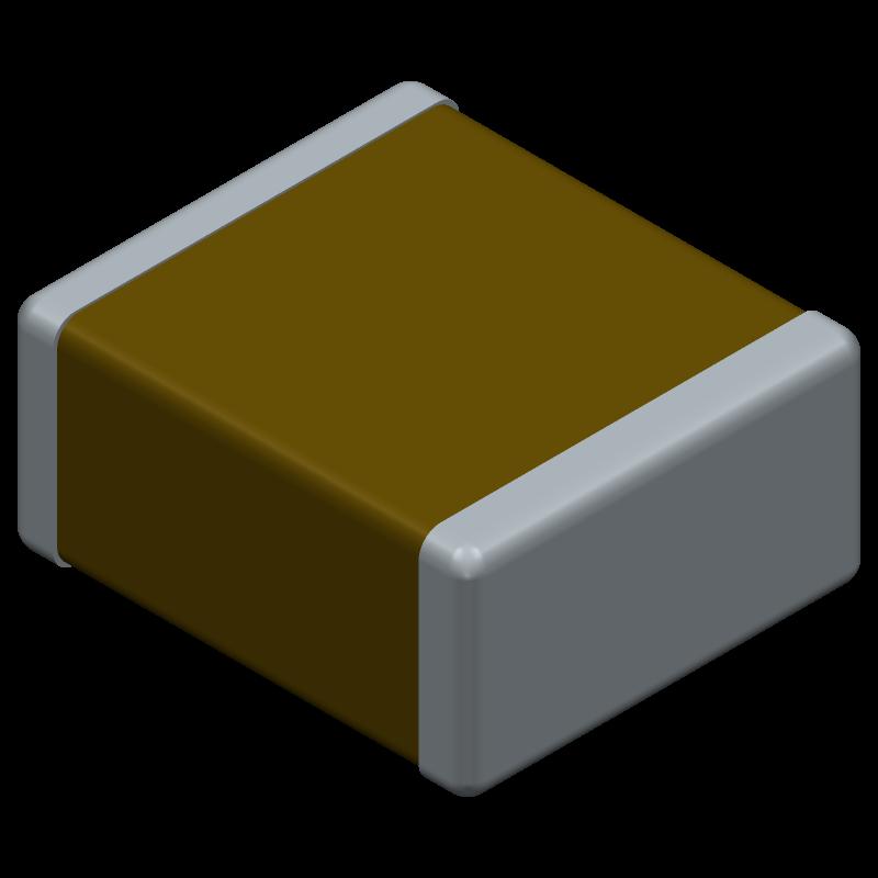 C2220H333JCGACTU - Kemet - 3D model - Capacitor Chip Non-polarised - C2220H